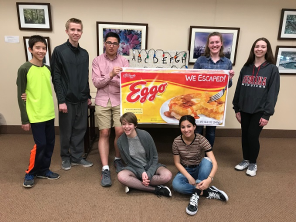 TAB members at escape room test play