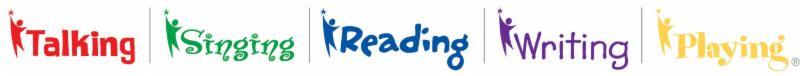 graphic of talking_ singing_ reading_ writing_ playing