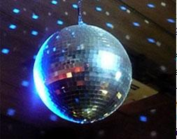 photograph of lighted disco ball