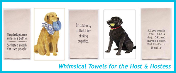 Whimsical Towels for the Host and Hostess