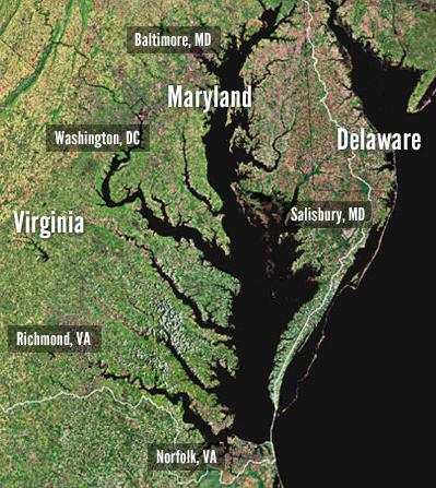 arial view of Chesapeake