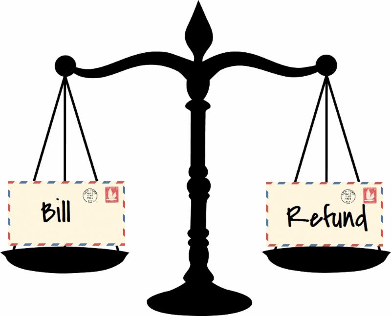 Tax bill or refund