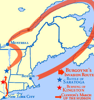 Major Turning Point In The Revolution One Of The Most Important - Battle of saratoga us maps