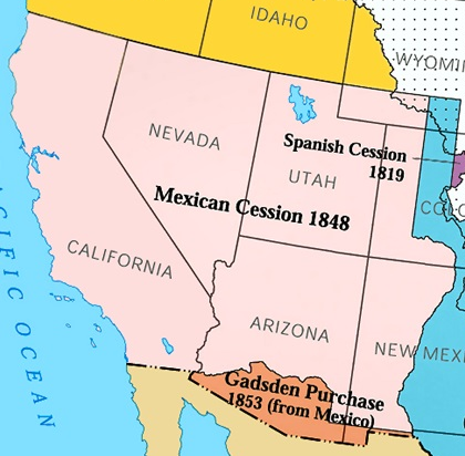 Mexicos Revolutions Lessons In Political History - Guadalupe hidalgo on us map