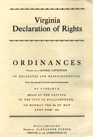 when was the va declaration of rights written