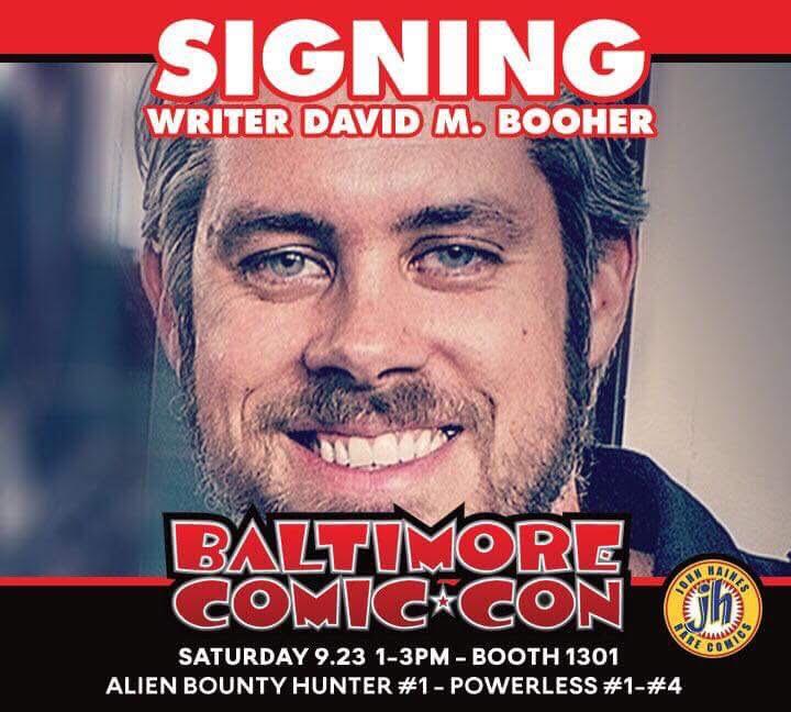 David M. Booher signing