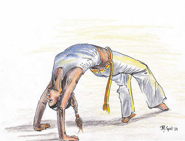 Capoeira Illustration Daniela Knebel