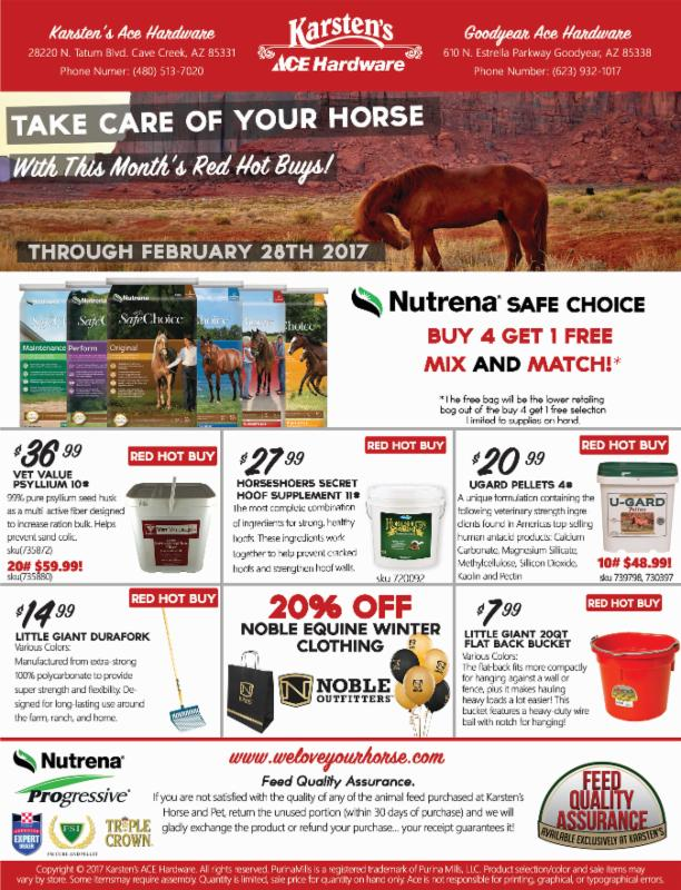 Take Care Of Your Horse With This Month S Red Hot Buys At