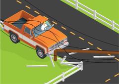 car vs. pole