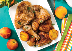 peach baked chicken