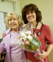Dr. Cheryl Wagner with patient Mary Murray