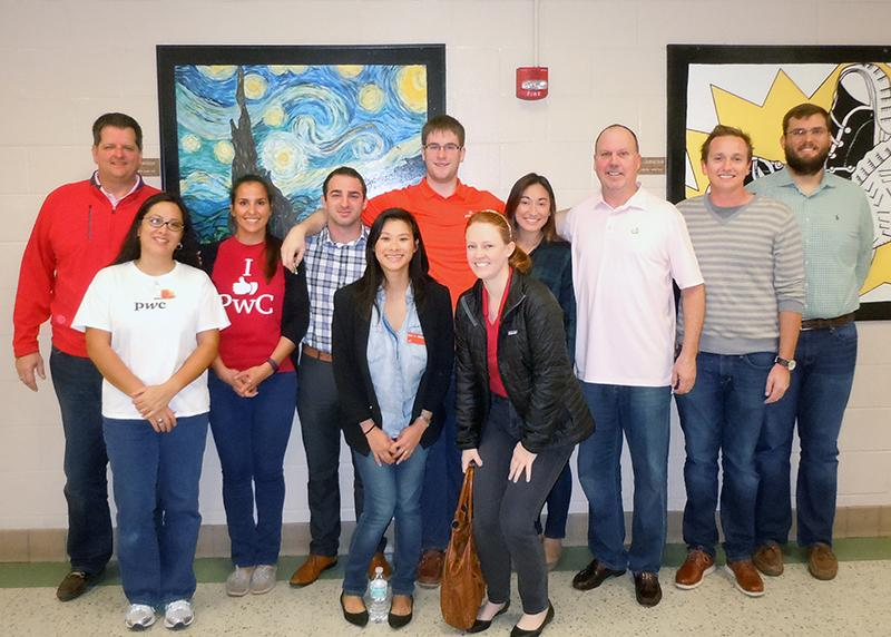 PwC volunteers