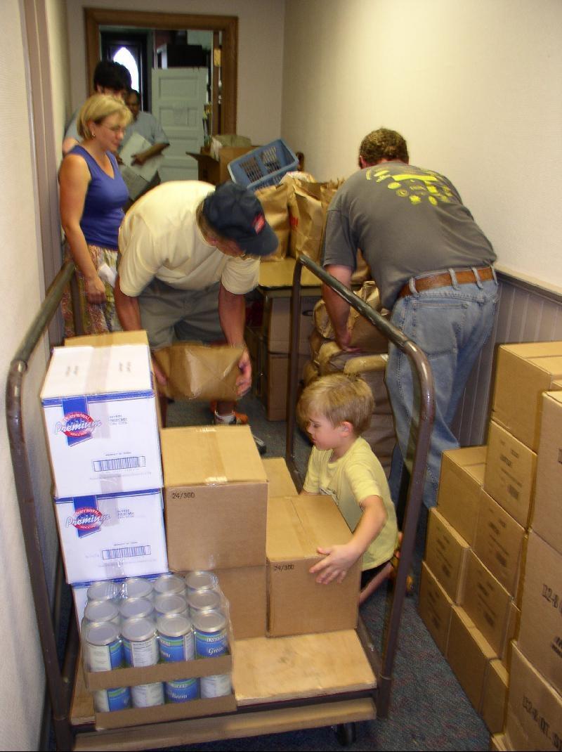 unloading pantry