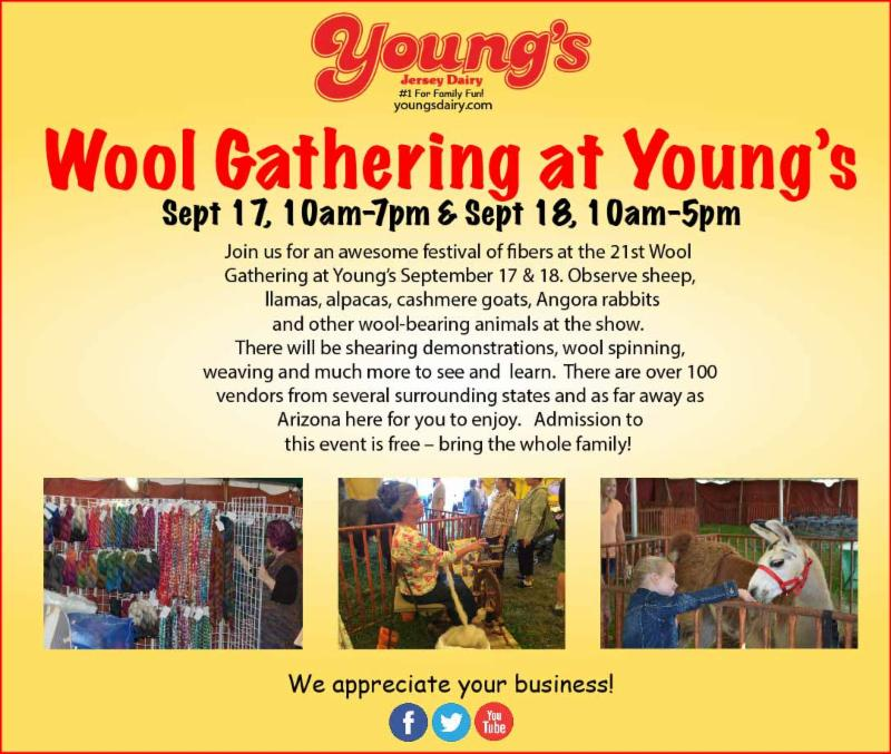 A Wool Gathering and More in Yellow Springs This Weekend!