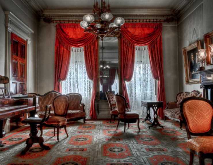 Parlor of the                                                          Merchant's                                                          House Museum,                                                          New York City