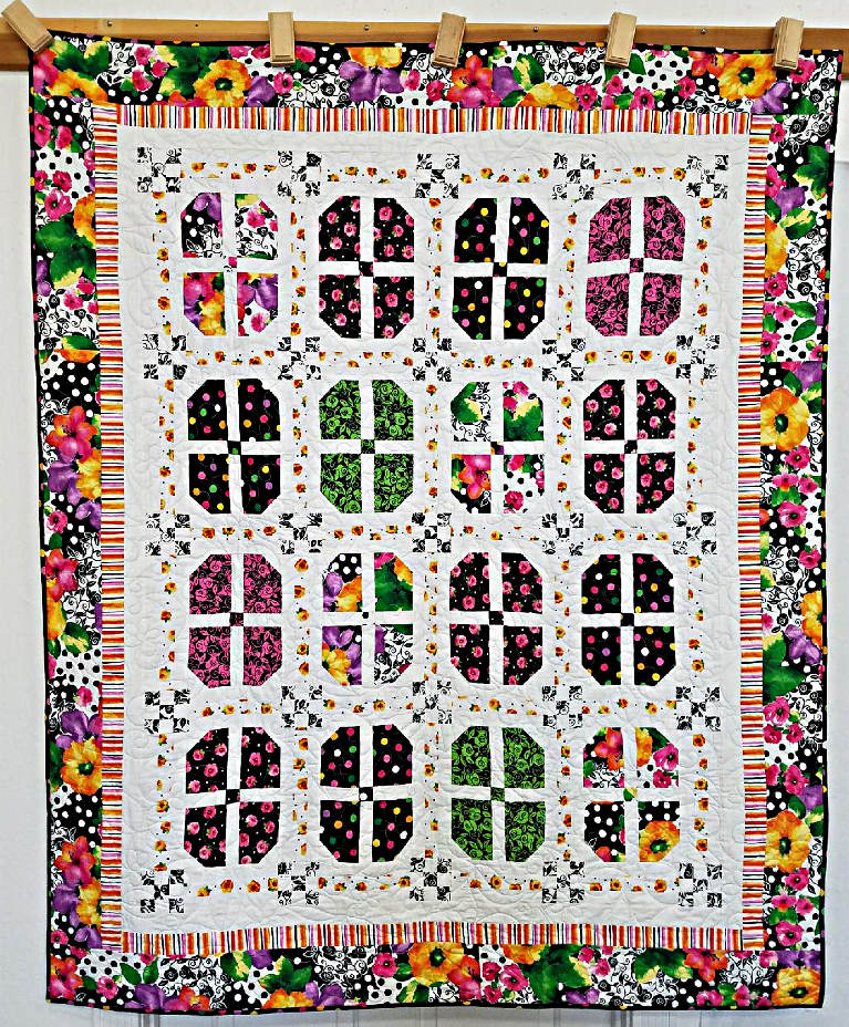 Picture of  Brooke Throw - kit -  58 inches x 70 inches Bright, Bold and Sew Charming!
