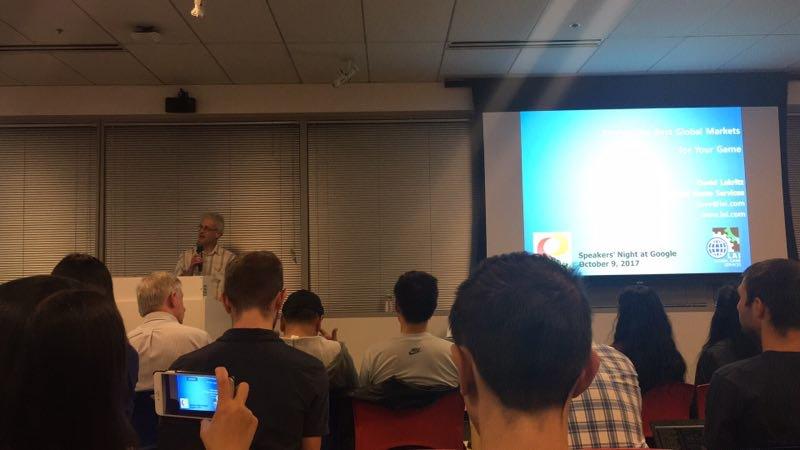 LAI speaks at Google_ IGDA