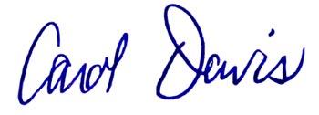 Carol Davis Signature