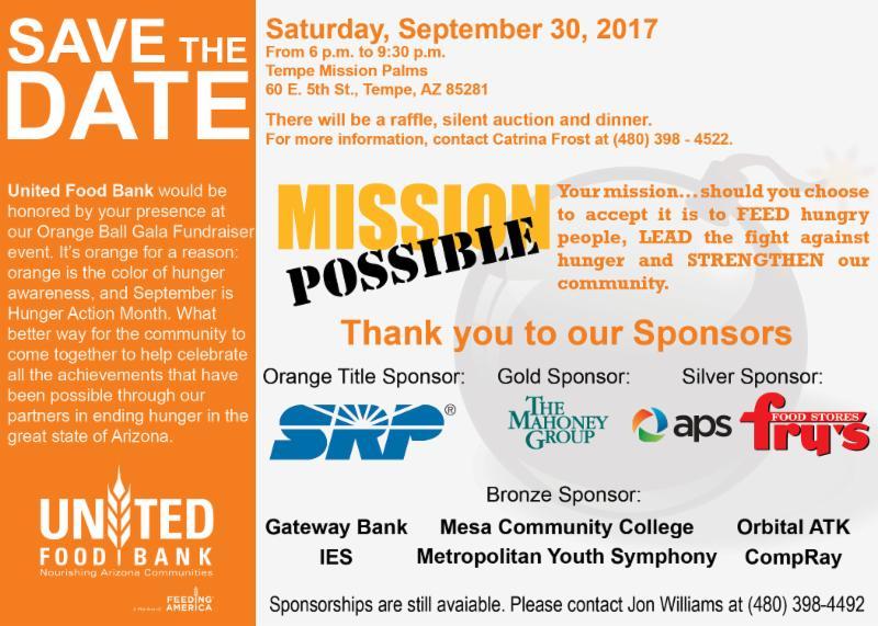 ending community hunger Volunteer organization of women dedicated to making a positive impact in metro phoenix community.