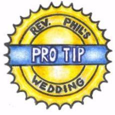 Illustration of Rev. Phil's Wedding Pro Tip