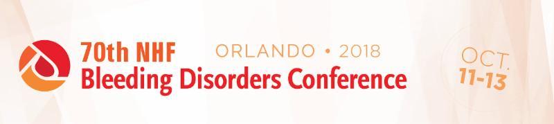NHF Bleeding Disorders Conference Banner