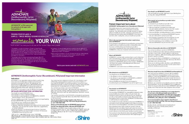Shire Adynovate Advertisement