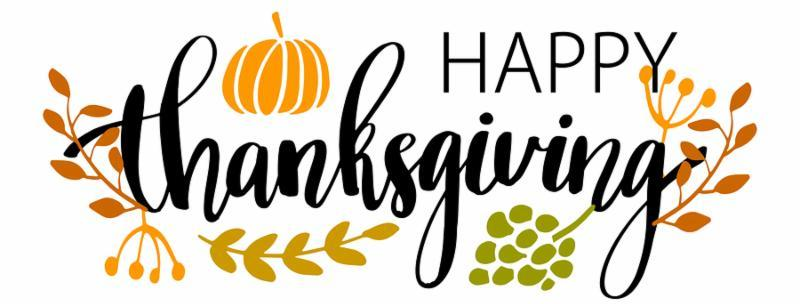 Hand drawn Happy Thanksgiving typography poster. Celebration quote  Happy Thanksgiving  with harvest food and leaves for Thanksgiving postcard, icon or badge. Vintage style calligraphy lettering