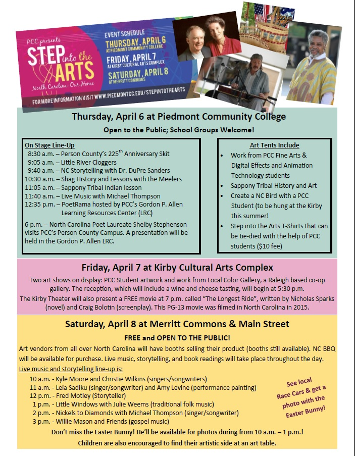 Printable copy of Step into the Arts activities