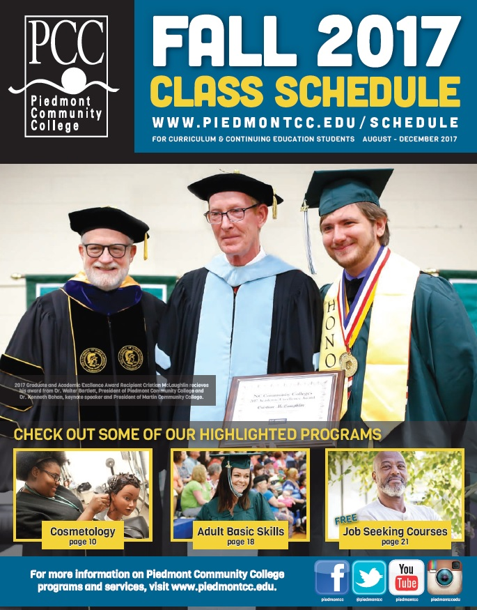 PCC_s Fall Schedule Cover
