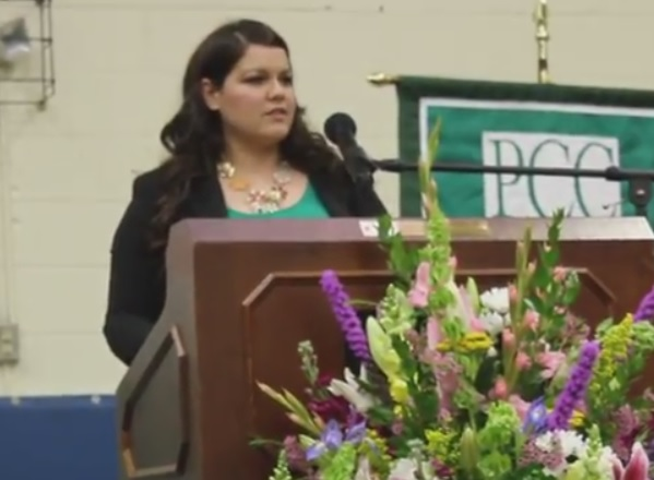Jeanean Bustamante gives inspiring presentation at PCC 2017 Graduation
