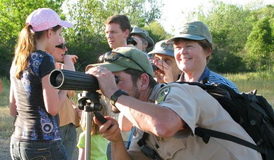 Beginner's bird walk led by a ranger