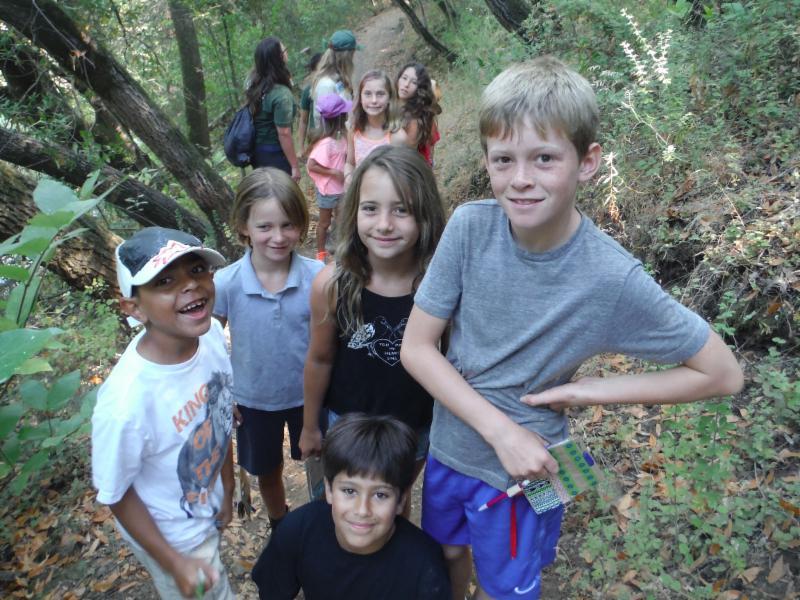 Kids hiking at Spring Lake Regional Park