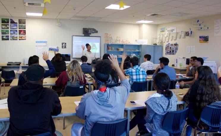ITEP internship workshop at Rancho Dominguez Prep School