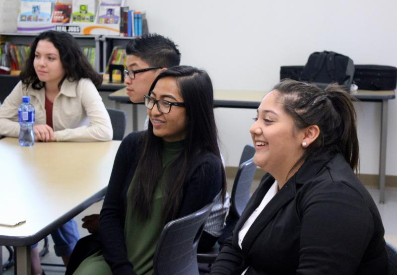ITEP students from Los Angeles River School _LARS_ participate in the ITEP internship workshop_ _Dress for Success._