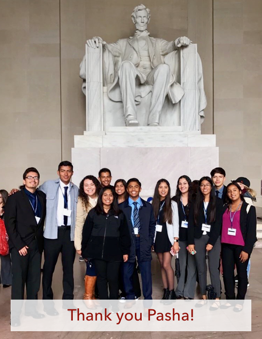 ITEP students at NYLF in Washington DC 2016