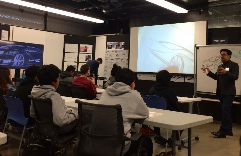 TEP students from the West Adams Preparatory STEM Academy visited the Art Center College of Design.