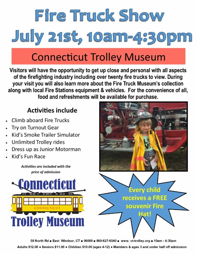 Fire Truck Show @ CT Trolley Museum | East Windsor | Connecticut | United States