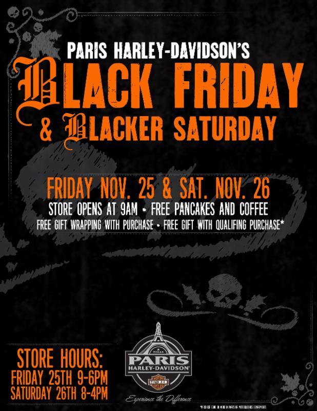 5630af6ce8 Black Friday - - Blacker Saturday at Paris H-D