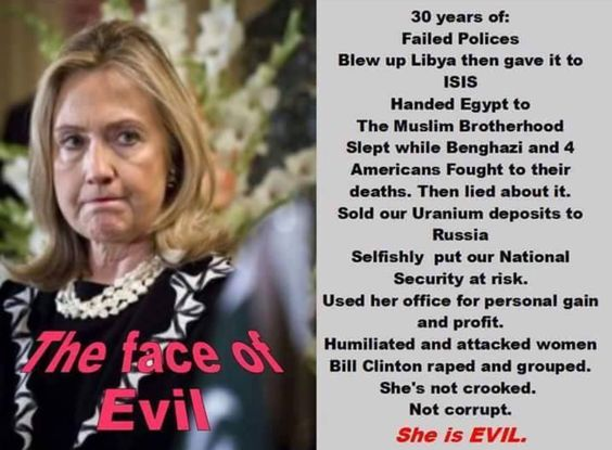 Hillary Clinton Is Evil & Satanic