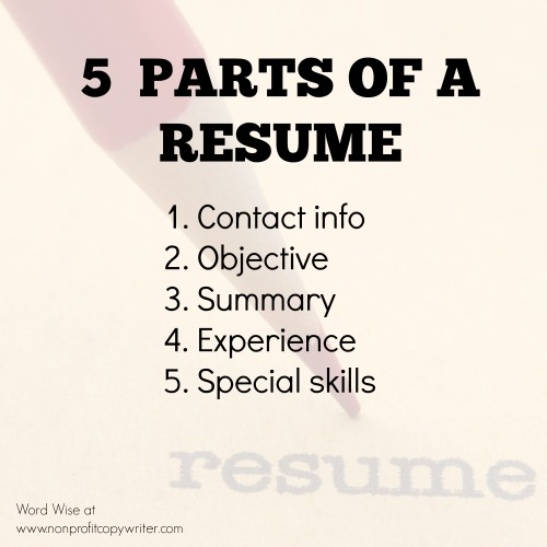 Word Wise Writing A Resume 5 Things To Include And 2 Things To Avoid