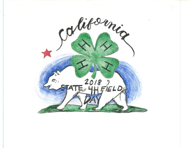 California 4-H State Field Day 2018 logo