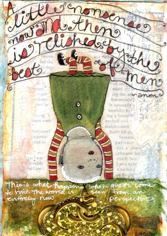 Art Journaling: Recipe for a Perfect Holiday with Karen O'Brien