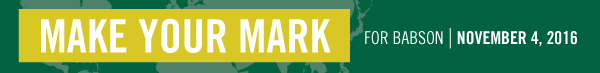 Make Your Mark For Babson
