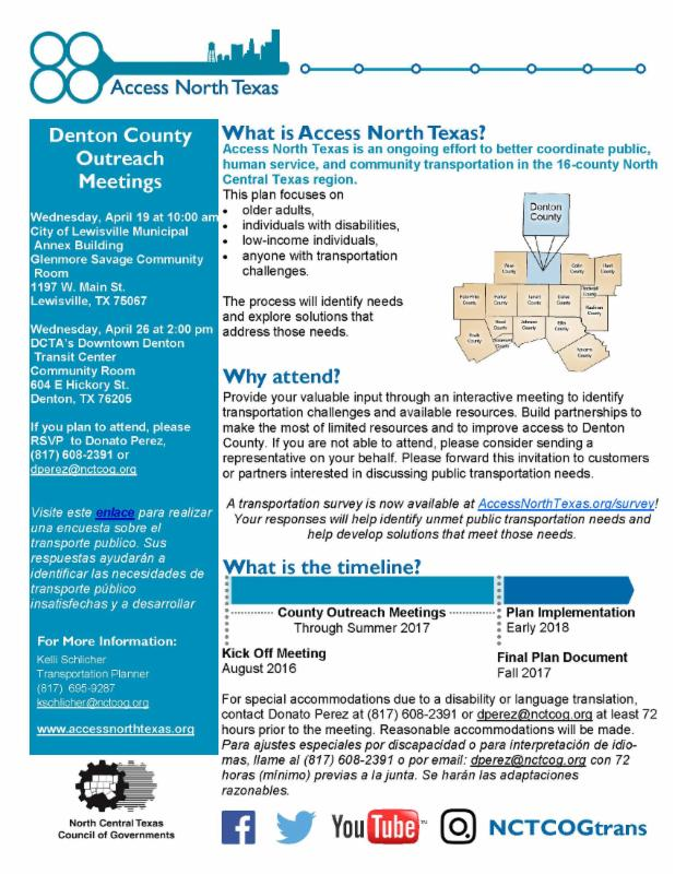 Access North Texas Transportation Outreach