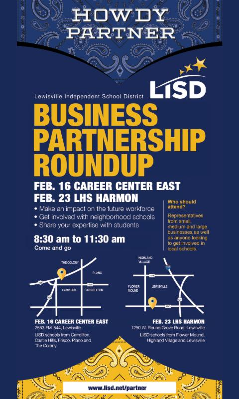 Lewisville ISD Business Partnership Roundup