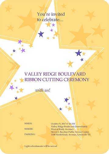 Valley Ridge Boulevard Ribbon Cutting Ceremony