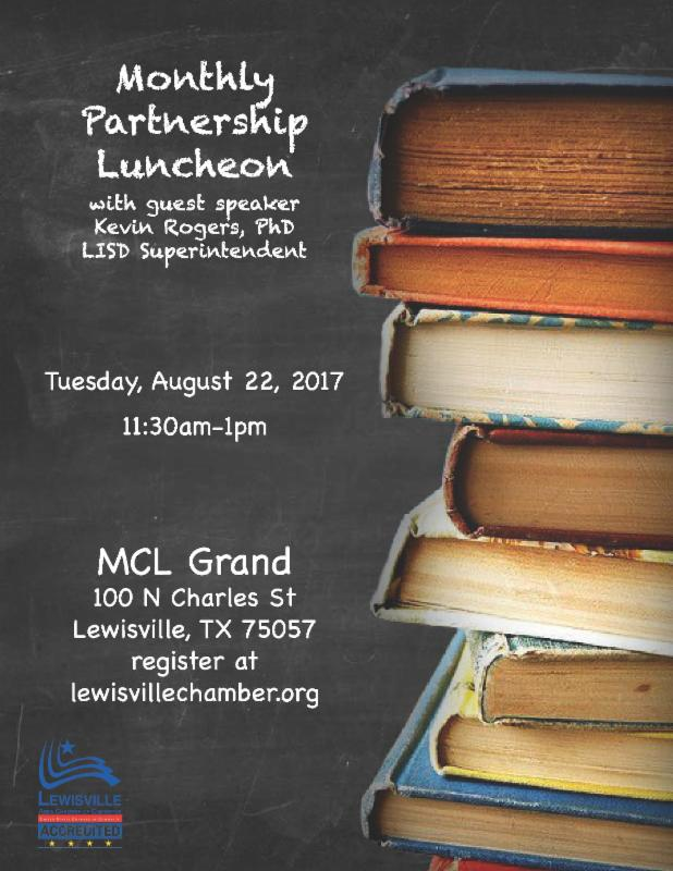 August, 2017 Monthly Partnership Luncheon