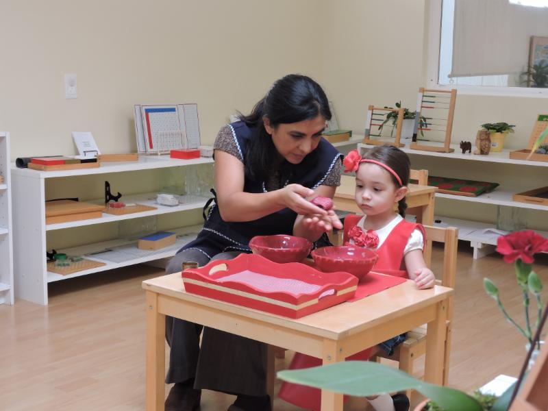 Liliana with primary child