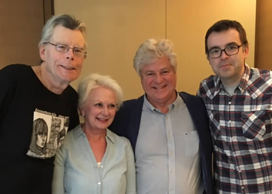 Linwood and his wife Neetha with Stephen and Owen King