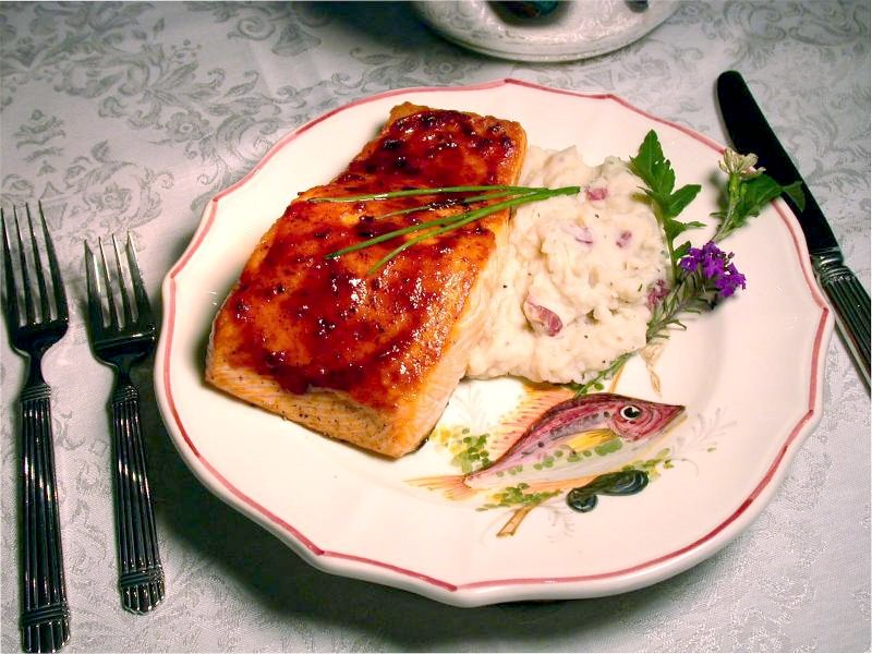 salmon plated
